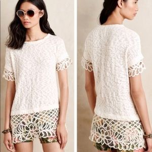 NWT ANTHROPOLOGIE Saturday Sunday Ivory Top